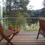 Terrasse aus Stauseeholz
